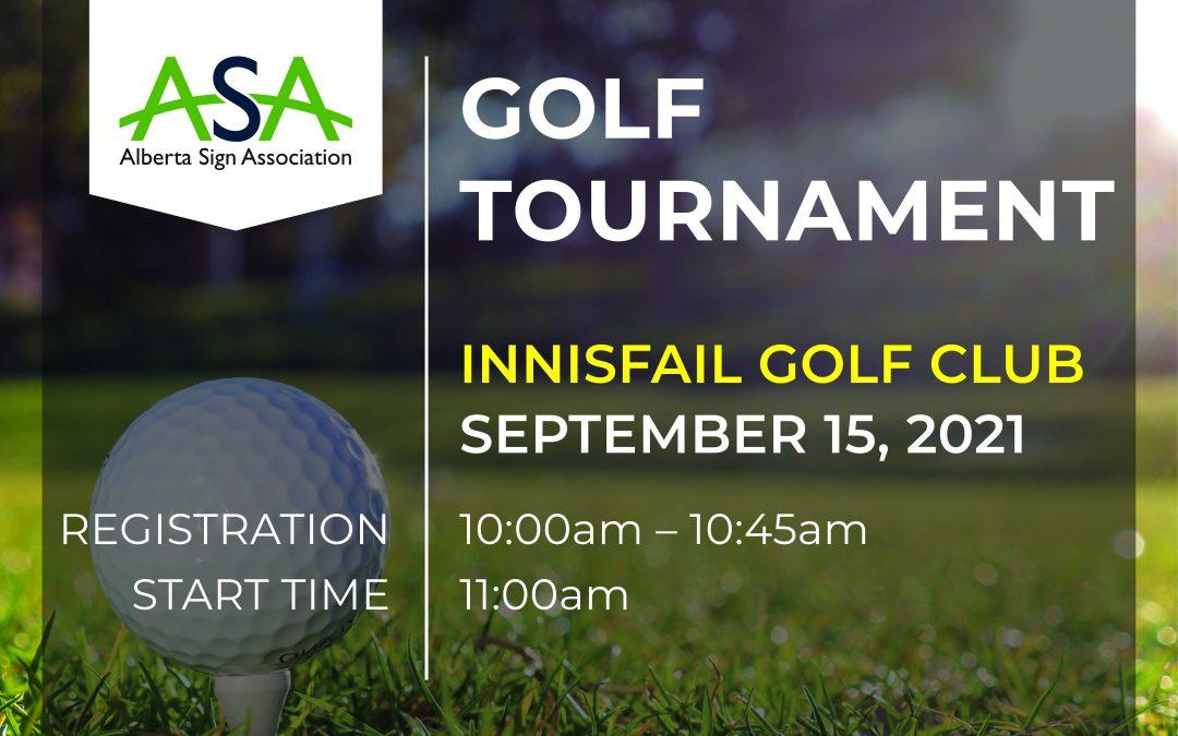 ASA Golf Tournament September 15, 2021